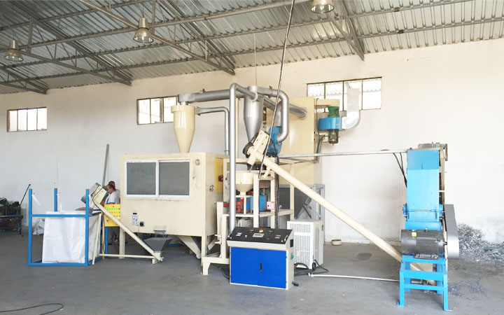 Medical blister package recycling machine