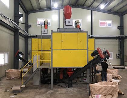 Mixed plastics separation machine
