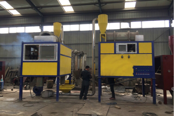 400kg per hour PET/PVC mixed plastics high voltage electrostatic separation