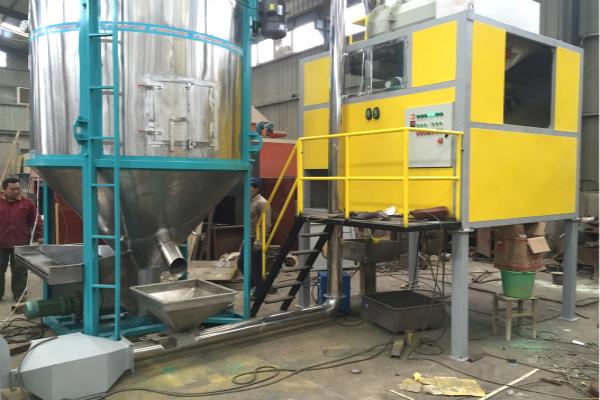 300kg per hour PET/PVC high voltage electrostatic separation
