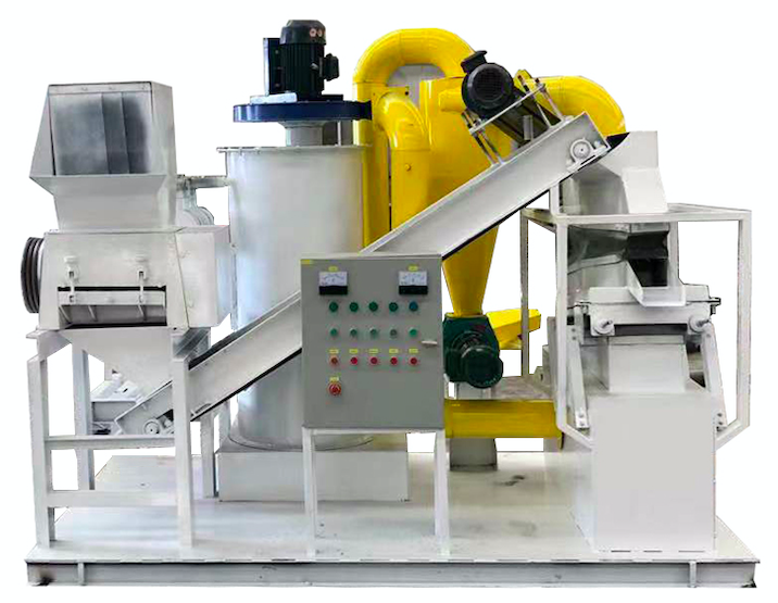 SY-C-400 waste cable wire granulator sold in South Korea