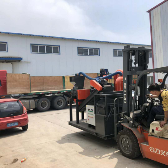 Small scale waste copper wire recycling machine shipping to India