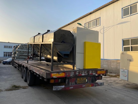 Aluminum-plastic board recycling machine ready for our Chinese customer