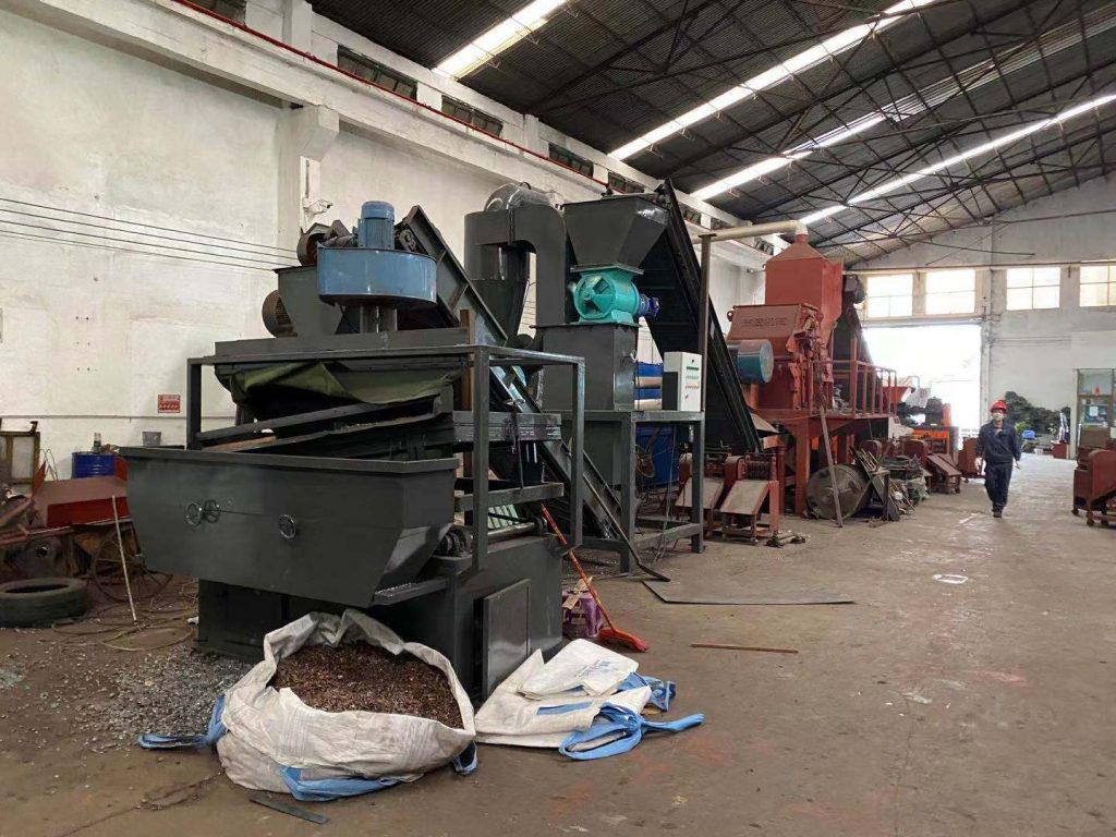3 ton/h copper and aluminum radiator water tank separator successfully installed and tested for our Chinese customer
